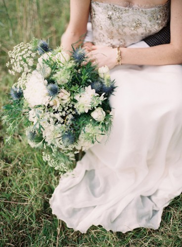 oversized white wedding bouquet