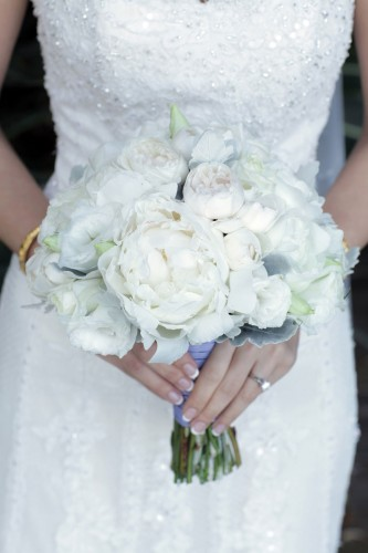 White peony david austin rose bouquet