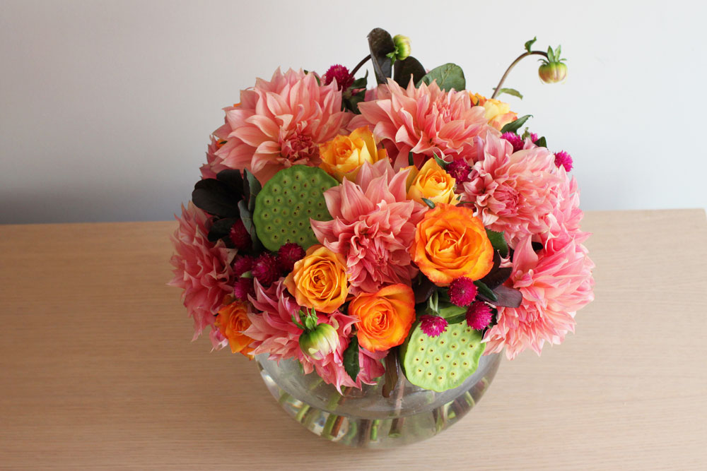 dahlia wedding fishbowl