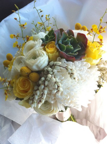 yellow spring bouquet