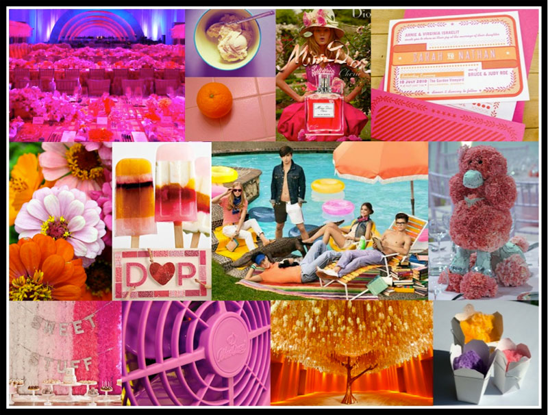Colorful mood board