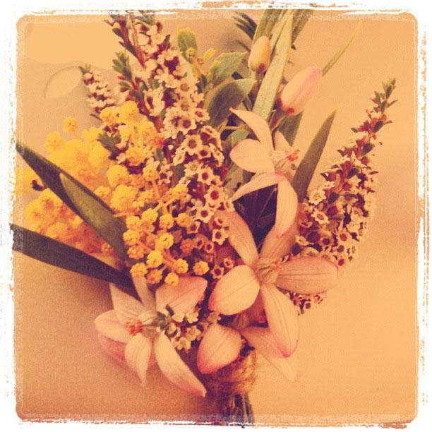 Native wildflower corsage