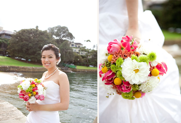 colourful wedding flowers bridal bouquet