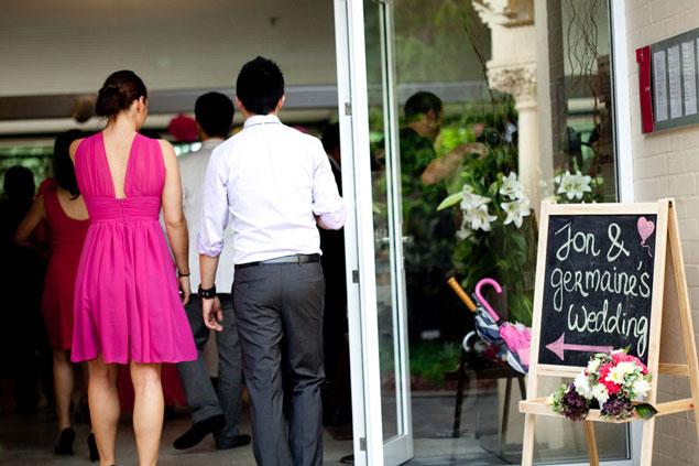 blackboard chalkboard for wedding