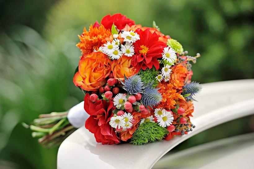 Red and orange bouquet sydney