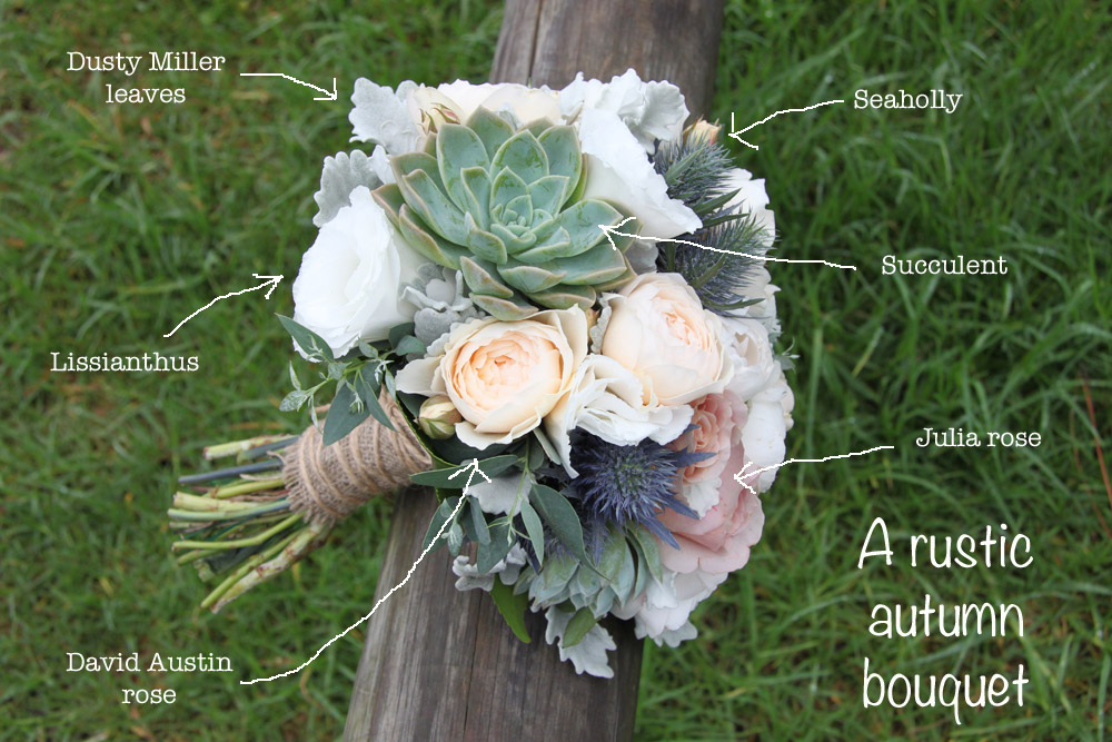 rustic autumn flowers wedding bouquet