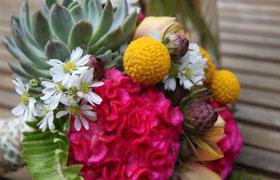 ecclectic wedding bouquet